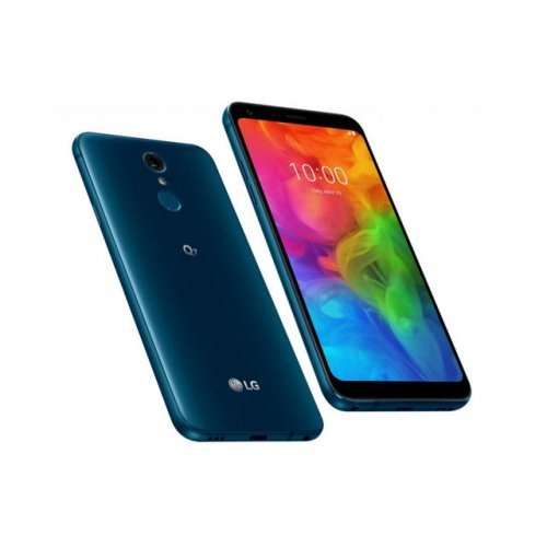 "Смартфон LG Q7, Dual SIM, 5.5"" 1080 x 2160, 3/32 GB, CPU Octa-core, Blue (снимка 1)"