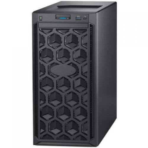 "Сървър Dell PowerEdge T140,Intel Core i3 8100 3.6GHz 6M cache 4C/4T,3.5"" Chassis up to 4 Cabled HDD and Software Raid,8GB 2666MT/s DDR4 ECC UDIMM,iDrac9 Bas.,1TB SATA 6Gbps 3.5""Cabled HDD,Embedded SATA,DVD+/-RW,TPM 1.2,On-Board LOM,3Y NBD (снимка 1)"