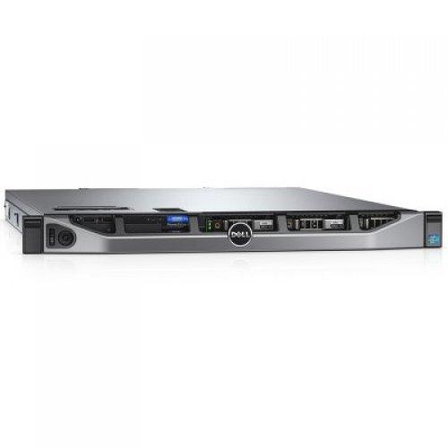 "Сървър R430,2xXeon E5-2630v4,3.5"" Chassis with 4 HDD,2x4GB RDIMM 2400MT/s,iDRAC8 Ent.,4x2TB 7.2k NLSAS 3.5 HP,PERC H730 Raid 1GB,Qlogic 2562 Dual Channel 8Gb FC HBA PCIe LP,2x SFP+ SR Tranc. LC Connector,DVD+/-RW,Hot Plug PSU 1+1 550W,Rails,3Y PS (снимка 1)"