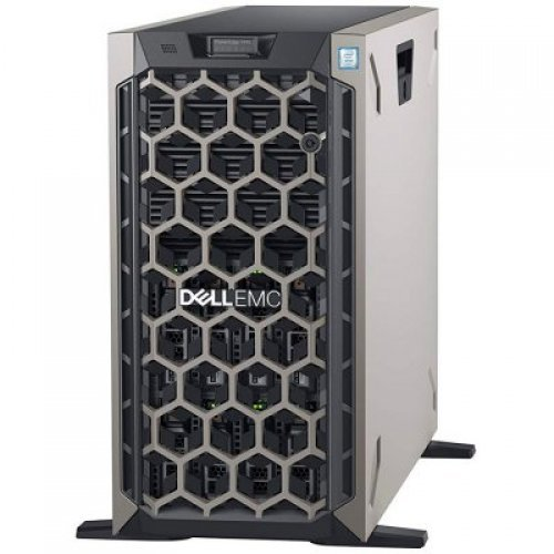 "Сървър DELL PowerEdge R740,Xeon Silver 4110 2.1G 8C/16T 9.6GT/s 11M,Chassis with 8 x 3.5"" Hotplug HDD,16GB RDIMM 2666MT/s,iDRAC9 Exp,600GB 10K SAS HDD Hot-plug,H730P RAID Controller 2GB,(1+0)PSU 750W,TPM 2.0,BC 5720 QP 1Gb NDC,Rails,3Y NBD (снимка 1)"