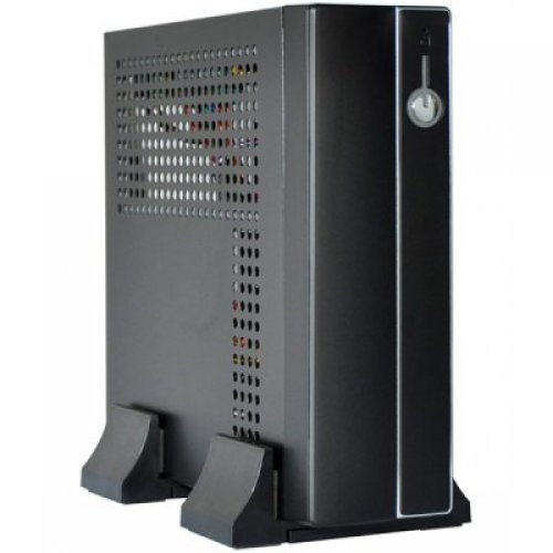 Компютърна кутия E-mini 3002 Black/Silver, 120W DC/DC + 12V/5A adapter, Mini-ITX chassis (снимка 1)