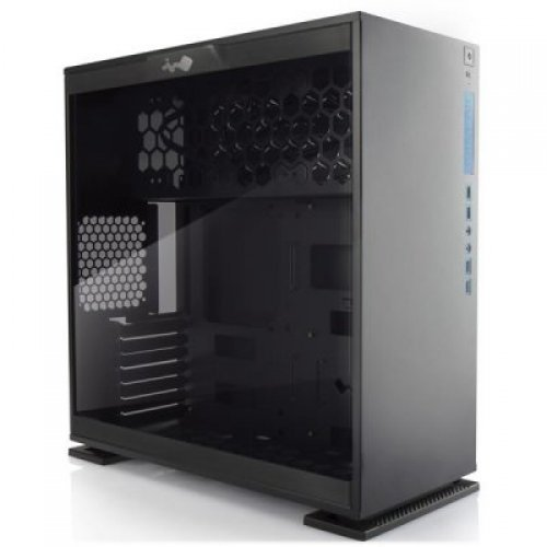 Компютърна кутия In Win 303 Mid Tower ATX Aluminum SECC, Tempered Glass, ATX, Micro-ATX, Mini-ITX, Front Ports 2xUSB 3.0,2xUSB 2.0,HD Audio, 500x215x480, 1x120mm Rear Fan/120mm Radiator,3x120mm Top Fan/360mm Radiator,3x120mm Bottom Fan, Black+AURORA (снимка 1)