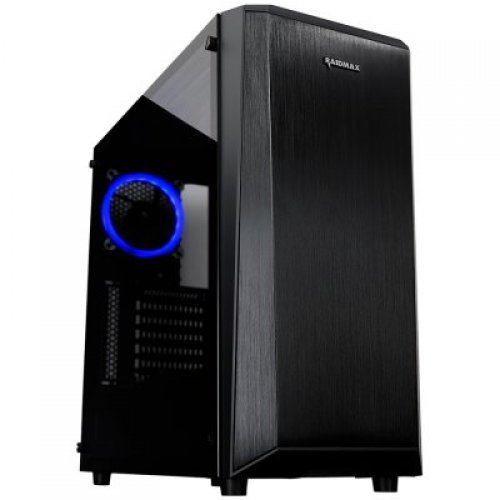 "Компютърна кутия Raidmax DELTA PRIME A13RTB Tower, ATX, 7 slots, 2 X 3.5"" H.D, 2 X SSD 2.5"" / 2 x USB3.0,HD Audio x 2, PSU Optional, 3 X 120mm fan,477x210x475mm Black (снимка 1)"