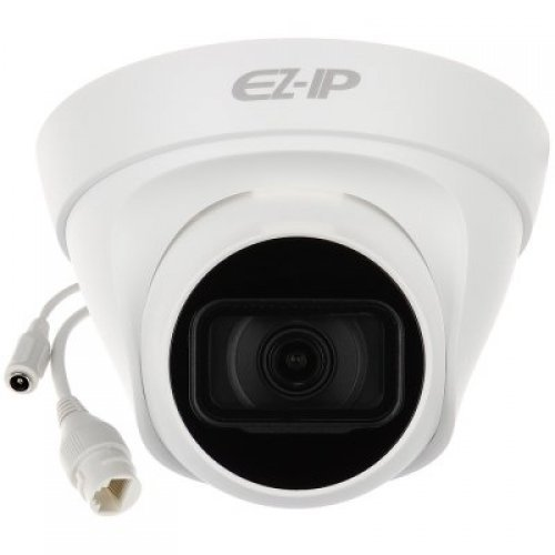 "IP камера Dahua IP camera 2MP, Eyeball Water-prof, 1/2.7"" CMOS, 1920×1080 Effective Pixels, H.265, 30fps@1080P, Focal Length 2.8mm, 115° view angle, Max IR distance 30m, 0.09Lux/F2.0, 0Lux/F2.0 IR on, DC12V, PoE, 4.8W, IP67. (снимка 1)"