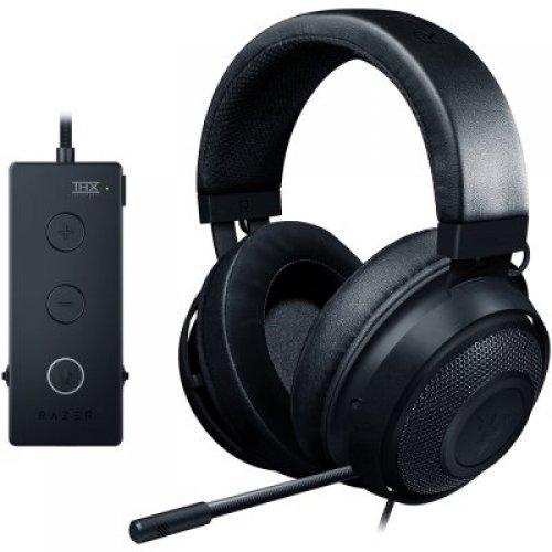 Слушалки Razer Kraken Tournament Ed. Black gaming headset,Full Audio Controls,THX Spatial Audio,Game/Chat Balance,Frequency response: 12 Hz – 28 kHz,Input power: 30 mW (Max),Drivers: 50 mm, with Neodymium magnets,Analog 3.5 mm (снимка 1)