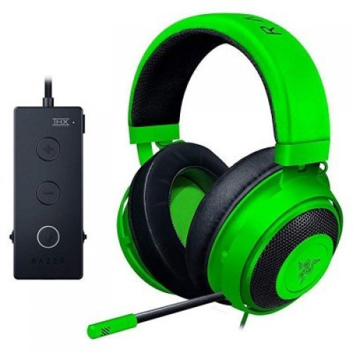Слушалки Razer Kraken Tournament Ed. Green gaming headset,Full Audio Controls,THX Spatial Audio,Game/Chat Balance,Frequency response: 12 Hz – 28 kHz,Input power: 30 mW (Max),Drivers: 50 mm, with Neodymium magnets,Analog 3.5 mm (снимка 1)