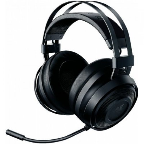 Слушалки Razer Nari Essential, Wireless Gaming headset with Lag-Free Performance, THX Spatial Audio, 16-Hour Battery Life, Flip Mic with Quick Mute Function, Frequency response: 20 Hz – 20 kHz, Impedance: 32Ω at 1 kHz, 40 mm drivers with Neodymium magnets (снимка 1)