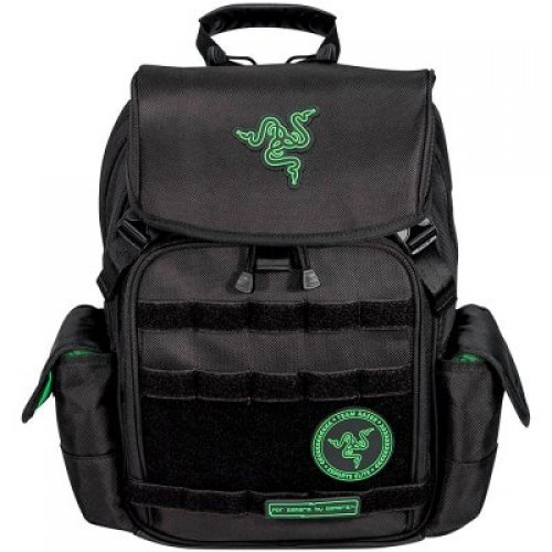 "Чанта за лаптоп Razer Tactical Backpack (14""), Made from robust 1680D ballistic nylon, Tear- and water-resistant exterior, Scratch proof interior, Soft padded shoulder straps and back panel, Adjustable chest buckle, 2 large interior compartments (снимка 1)"