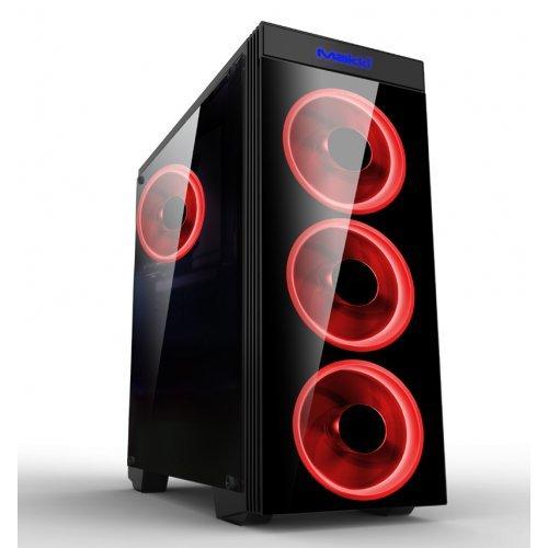 Компютърна кутия Makki Case ATX Gaming - MAKKI-8872-RED - 4x120mm RED double ring fans (снимка 1)