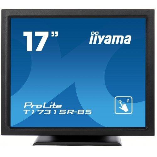 Монитор Iiyama T1731SR-B5 17'' TN LED Panel, 5:4, 1280x1024, resistive, single touch, 200cd/m2, 5ms, USB, HDMI, Displayport, VGA, speakers (снимка 1)