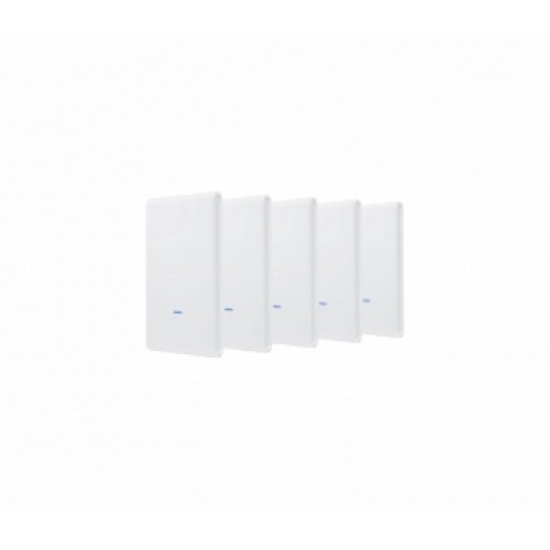 Access Point Ubiquiti UAP-AC-M-PRO, 2.4/5GHz, 450/1300Mbit, 20dBm, 3x3 MIMO, Outdoor, 5 pack, Без PoE адаптери в комплекта (снимка 1)