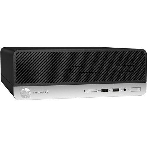 Настолен компютър HP HP ProDesk 400 G5 SFF, 6KA03ES, CPU Intel I3-8100, RAM 4GB, SSD 128GB, DVDRW, USB Mouse, USB Keyboard (снимка 1)