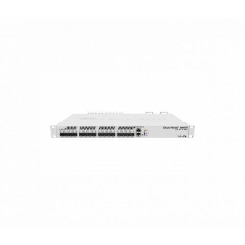 Суич MikroTik CRS317-1G-16S+RM, 800 MHz Dual Core, 1GB, 16SFP+, 1GbE, L3, 1U rackmount (снимка 1)