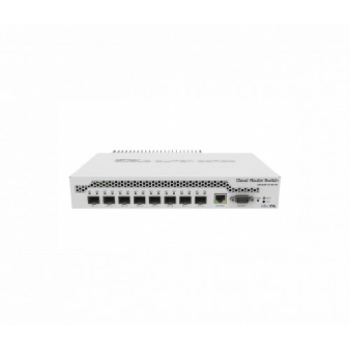 Суич MikroTik CRS309-1G-8S+IN, 800MHz, 512MB, 1xGE, 8xSFP+, Layer 3, License level 5, PoE in (снимка 1)