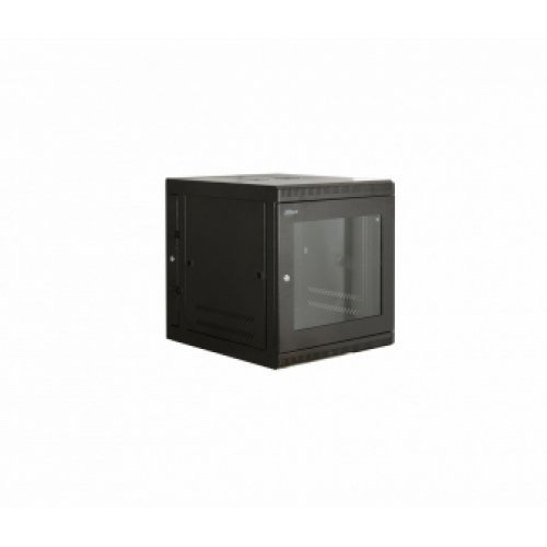 Комуникационен шкаф Шкаф Dahua 12U*600*600*650, за стенен монтаж, двусекционен, черен (снимка 1)