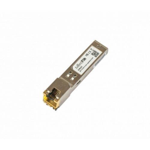 Медиа ковертор MikroTik S-RJ01, 1.25G, RJ45 GE, up to 100 meter, SFP модул (снимка 1)