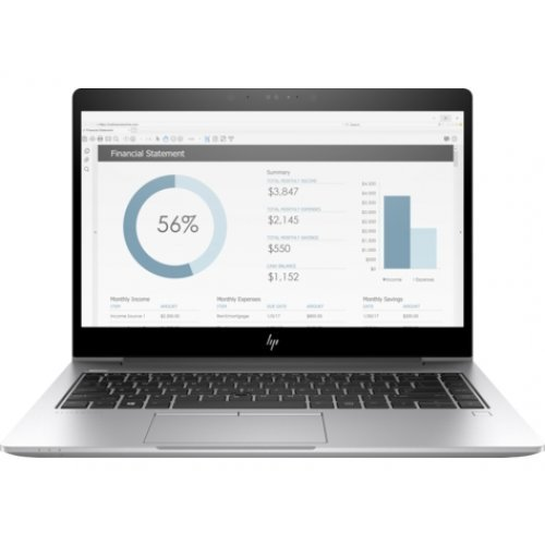 "Лаптоп HP EliteBook 840 G5 14, бял, 14.0"" (35.56см.) 1920x1080 (Full HD) IPS, Процесор Intel Core i5-8250U (4x/8x), Видео AMD Radeon RX 540/ 2GB GDDR5, 8GB DDR4 RAM, 256GB SSD диск, без опт. у-во, DOS ОС (снимка 1)"