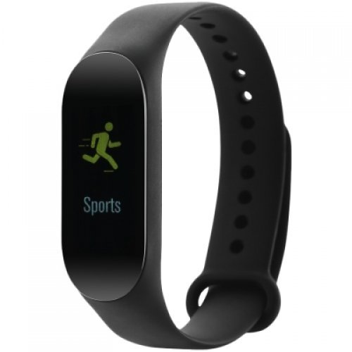 Ръчен часовник Canyon Smart band, colorful 0.96 inch TFT, pedometer, heart rate monitor, 80mAh, multi-sport mode, compatibility with iOS and android, Black, host:40*15.5*10.5mm, strap: 233*12mm, 18g (снимка 1)