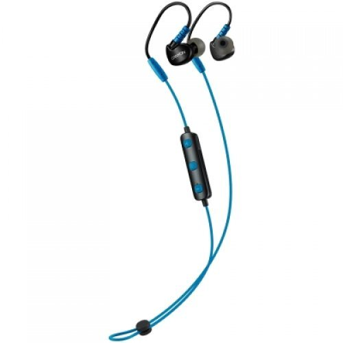 Слушалки CANYON Bluetooth sport earphones with microphone, cable length 0.3m, 18*25*22mm, 0.028kg, Blue (снимка 1)