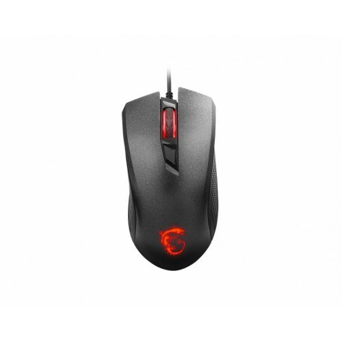 Мишка MSI Clutch GM10, S12-0401530-AP1, wired optical gaming mouse, черен, USB, up to 2400 dpi (снимка 1)