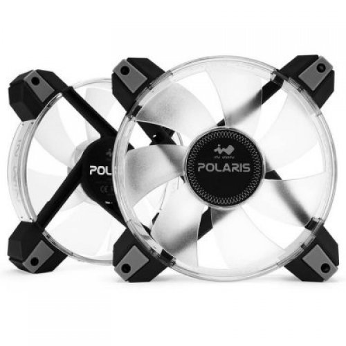 Въздушно охлаждане на процесор IN WIN POLARIS 12cm RGB LED FAN x 2pcs/8-8PIN CONNECTINGWIRE 800mm x 1pcs+100mm x 1PCS/4-PIN ADAPTER/RGB Y C (снимка 1)