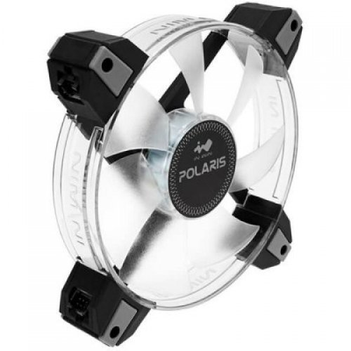 Въздушно охлаждане на процесор INWIN POLARIS 12cm RGB LED FAN x 1pcs/8-8PIN CONNECTING WIRE 800mm x 1pcs+100mm x 1PCS/SCREW x 4PCS/RETAIL/* Polaris's RGB Single Pack will not operate on its own, you must have the Polaris RGB Twin Pack first and daisy-chain them together. (снимка 1)