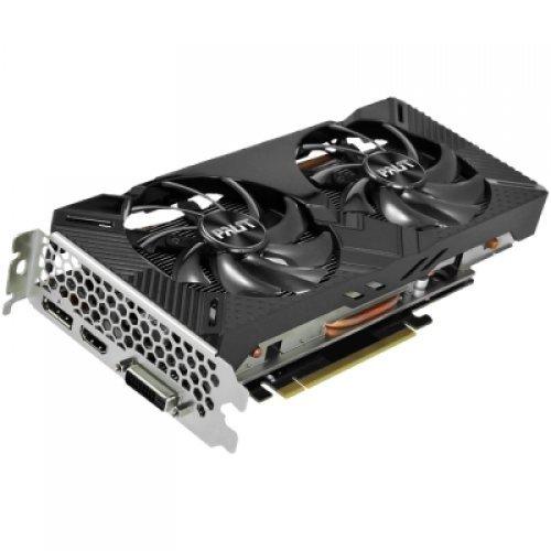 Видео карта nVidia PALIT GeForce RTX 2060 Dual OC 6GB GDDR6,192bit ,DVI,HDMI,DP,part# NE62060S18J9-1160A (снимка 1)