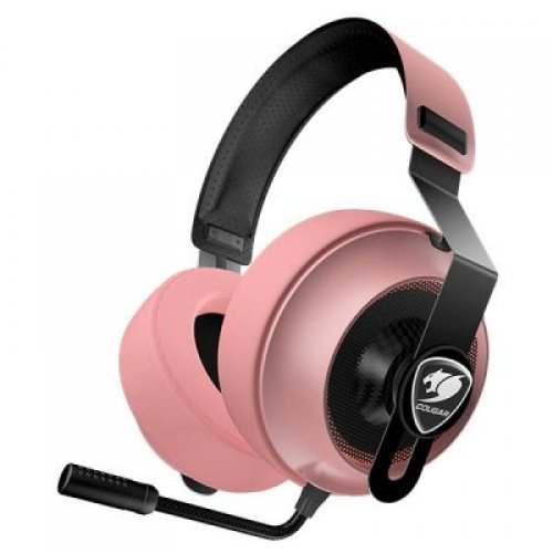 Слушалки COUGAR Phontum Essential - Pink, Stereo Gaming Headset, 40mm Driver, Extra Large Foam Ear Pad, Steel Headband, Noise Cancellation Microphone, Volume and Microphone Mute Controls (снимка 1)