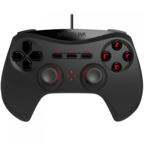 Speedlink STRIKE NX Gamepad - for PS3,ergonomic, Analogue sticks and pressure-sensitive buttons for perfect control,Vibrations ,Cable:1.8m, black (снимка 1)