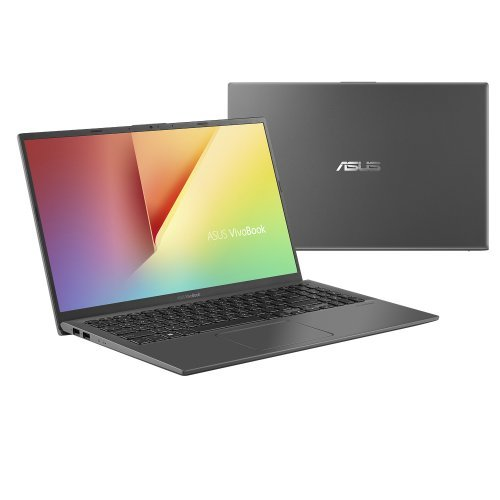 "Лаптоп Asus VivoBook 15 X512FJ-EJ072, сив, 15.6"" (39.62см.) 1920x1080 (Full HD) без отблясъци, Процесор Intel Core i7-8565U (4x/8x), Видео nVidia GeForce MX230/ 2GB GDDR5, 8GB DDR4 RAM, 1TB HDD диск, без опт. у-во, без ОС (снимка 1)"