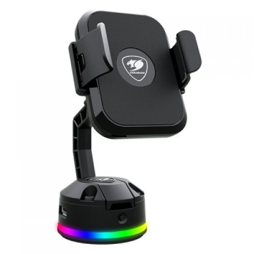 Стойка COUGAR Bunker M Mobile Charging Stand RGB,Wireless Charging,Adjustable Stand,14 RGB lighting effects,2 USB Hub, 120 x 70 x 145 (mm) (снимка 1)
