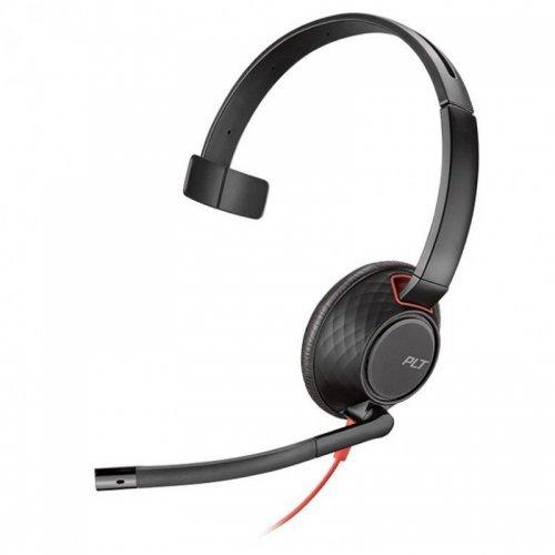 Колцентър слушалка Plantronics Blackwire C5210 USB & 3,5mm Jack Mono (снимка 1)