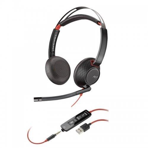 Колцентър слушалка PLANTRONICS BLACKWIRE C5220 - USB-A,WW (снимка 1)