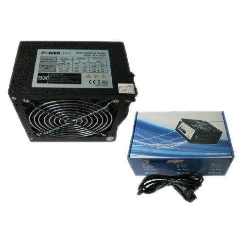 Goldenfield ATX-550W, AC 115/230V, 47/63Hz, DC 3.3/5/12V, 550W, Retail, 3XSATA conector, 2 x MOLEX, power cable incl., 1x120, Black Nickel, Efficiency 75% (снимка 1)
