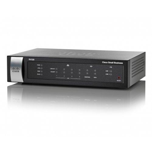 Cisco RV320-K9-G5, Gigabit Dual WAN VPN Router (снимка 1)