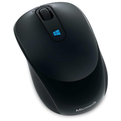 Мишка Microsoft Sculpt Mobile Mouse, 2.4GHz Wireless, 2400 dpi, BlueTrack, 3 buttons, 1x AA Alkaline battery, Black, 43U-00003 (снимка 1)