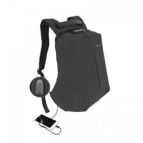 """Чанта за лаптоп Tellur V2 15.6"""" с USB порт, функция """"Анти-кражба"""" - черна (снимка 1)"""