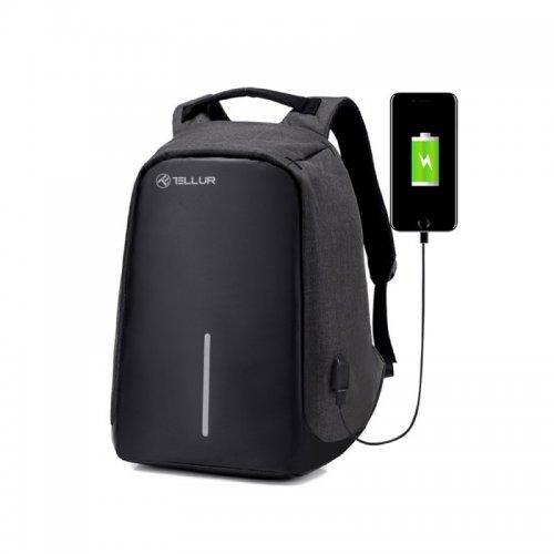 """Чанта за лаптоп Tellur 15.6"""" с USB порт, функция """"Анти-кражба"""" - черна (снимка 1)"""