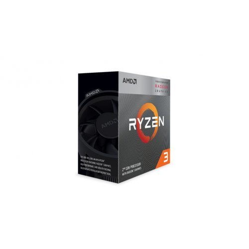 Процесор AMD Ryzen 3 3200G, 4C/4T, s.AM4, 3.6GHz (4.0GHz with Boost), 6MB, 65W, With Cooler, Radeon RX Vega 8 Graphic, Box (снимка 1)