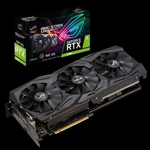 Видео карта nVidia Asus ROG-STRIX-RTX2060-6G-GAM, RTX 2060 ROG STRIX GAMING, 6GB GDDR6 (снимка 1)