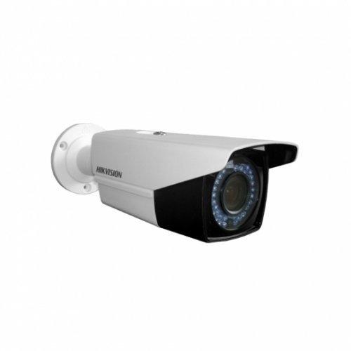 Hikvision DS-2CE16C0T-IT5F, HD-TVI/AHD/CVI/CVBS корпусна камера (4 in 1); 1MP (HD 720p@25 кад/сек); 1MP Progressive Scan CMOS сензор; 0.1 Lux@F1.2 (0 Lux IR on); 3.6 мм; избираем HD-TVI/AHD/CVI/CVBS режим на работа; за външен монтаж (снимка 1)