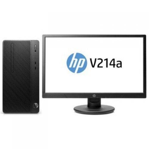 """Настолен компютър HP HP PRO_A G2 180W, Ryzen3 Pro2200G, 5QL24EA, Free DOS + V214a, 20.7"""" Monitor (снимка 1)"""