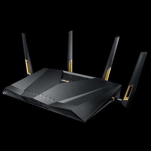 Безжичен рутер Asus RT-AX88U, 802.11AX (WiFi 6), AX6000, Dial Band- 2.4/5 GHz, GigaBit, 2x USB 3.1 Gen1 (снимка 1)