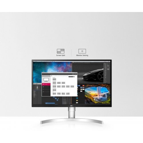 "Монитор LG 27"" 27UL550-W, 4K UHD (3840 x 2160) IPS LED HDR, 5ms, 2x HDMI/ 1x DisplayPort/ 1x Headphone Out (снимка 1)"