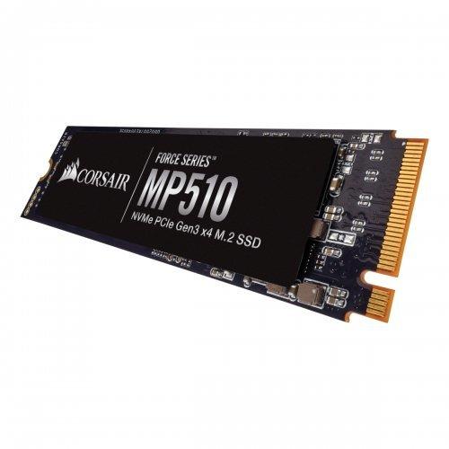 SSD Corsair 960GB, Force MP510 series, NVMe PCIe Gen 3.0 x4 (PCIe Slot) M.2 2280, 3D TLC NAND (снимка 1)