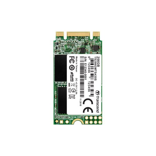 SSD Transcend 256GB M.2 2242(42 X 22mm) SSD SATA3 3D NAND TLC (снимка 1)