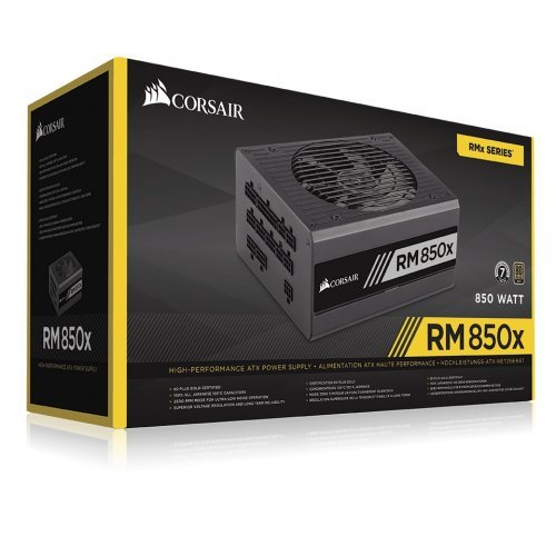 Захранващ блок Corsair RMx Series RM850x Power Supply, Fully Modular 80 Plus Gold 850 Watt (снимка 1)