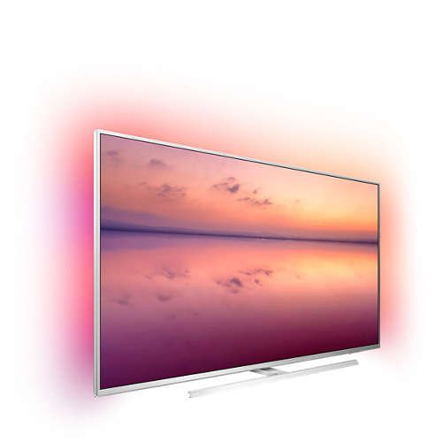 "Телевизор Philips 55"" 4K UHD LED Smart TV SAPHI, DVB-T/T2/T2-HD/C/S/S2, 3- странен Ambilight, Индекс на качеството на образа 1200, HDR 10+, Pixel Precise Ultra HD, Dolby Vision и Dolby Atmos (снимка 1)"