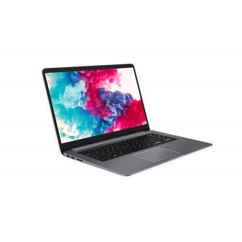 """Ултрабук Asus Ultrabook VivoBook 15 X510UF-EJ680T, сив, 15.6"""" (39.62см.) 1920x1080 (Full HD) без отблясъци, Процесор Intel Core i5-8250U (4x/8x), Видео nVidia GeForce MX130/ 2GB GDDR5, 4GB DDR4 RAM, 1TB HDD диск, без опт. у-во, Windows 10 64 ОС, Клавиатура- с БДС + външна батерия Asus ZenPower Slim 4000mAh Rechargeable Li-Polymer Cell Black, 90AC02C0-BBT017 (снимка 1)"""