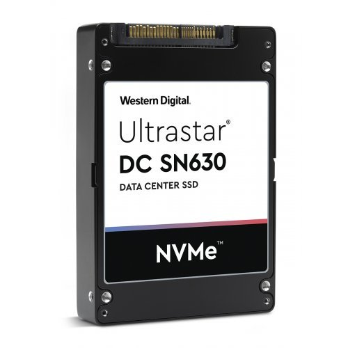 "SSD WD 960GB Ultrastar DC SN630 PCIe Gen 3.1 x4 NVMe DATA CENTER SSD (Compliant to NVMe 1.3), WDC BiCS3 3D TLC, U.2 2.5"" (снимка 1)"